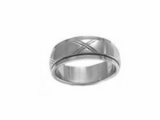 Plus Size Worry Ring Stainless Steel Brushed Ex
