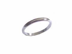 Steel Plus Size Ring or Wedding Band 4mm