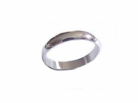 Steel Plus Size Ring or Wedding Band 5mm