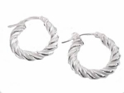 Sterling Silver Earrings Small Hoop