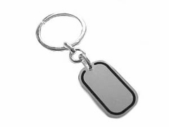 Sterling Silver Key Chain or Key Ring Dog Tag