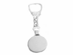 Sterling Silver Key Chain Round Disk