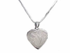 Sterling Silver Necklace Heart Locket Long Chains
