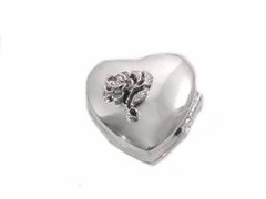 Sterling Silver Pill Box with Rose