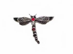 Sterling Silver Pin Marcasite Dragonfly