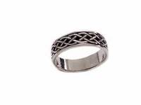 Sterling Silver Plus Size Ring Celtic Band 7 To Size 14