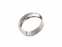 Sterling Silver Ring Plain Rounded Band Plus Size Ring