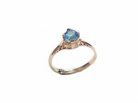 14k Gold Ring Plus Size Ring Clear Cz Size 12