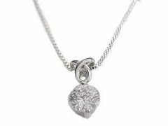 Cz Drop Sterling Silver Necklace Long Chains