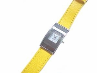 Plus Size Watch Women's Yellow Strap Up to 8 Inch