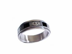 Worry Ring Spinner Ring Stainless Steel Claddagh