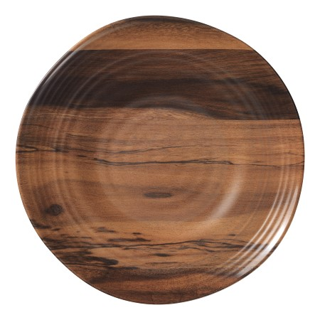 acacia wood melamine dinner plates set of 6 - Melamine Dinner Plates