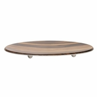 Acacia Wood Melamine Round Serving Platter