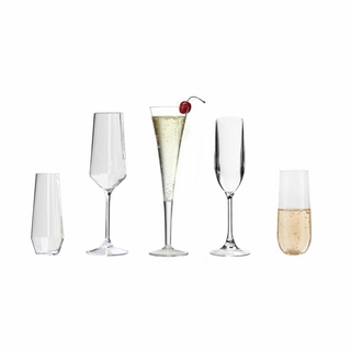 ACRYLIC CHAMPAGNE GLASSES & FLUTES