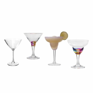 ACRYLIC MARTINI AND MARGARITA GLASSES