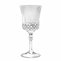 Cut Crystal-Look Wine Goblets - Set/6
