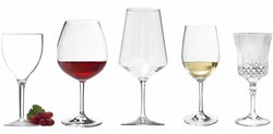 Unbreakable and Acrylic Wine Glasses