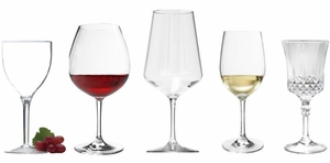 Acrylic Wine Glasses and Unbreakable BPA Free Tritan™  Wine Goblets