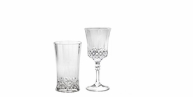 Cut Crystal Acrylic Wine Glasse and Tumbler Glasses