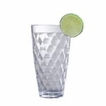 Harlequin Faceted Tall Acrylic Tumblers - Set/4