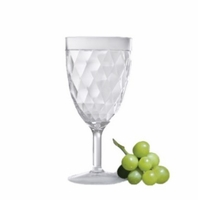 Harlequin Faceted All-Purpose Acrylic Wine Glasses - Set/4