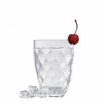 Harlequin Faceted Acrylic Double Old Fashion Acrylic Tumblers - Set/4