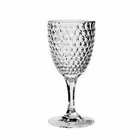 diamond clear acrylic wine glass set4