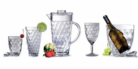 Harlequin Faceted Acrylic Glassware & Pitcher