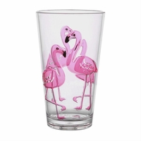 Flamingo BPA-Free Acrylic Highball Tumbler - Set/4