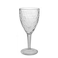Hammered-Look Acrylic Wine Glass