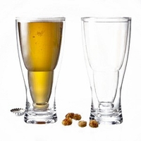 Hopsy Turvy Upside Down Acrylic Beer Glasses -Set/2