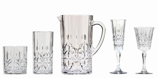 Unbreakable and Acrylic Plastic Glassware, Barware and Stemware