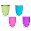 Keep-Kool Double Wall Insulated Colorful Acrylic Cups (Set of 4)