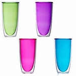 Keep-Kool Double Wall Insulated Colorful Tall Acrylic Cups (Set of 4)