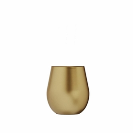 Metallic Gold Stemless Acrylic Wine Glass