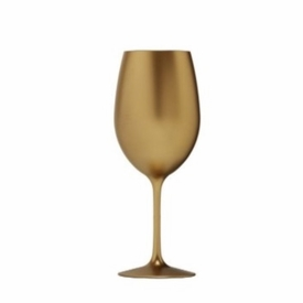 Metallic Gold Acrylic White Wine Glass