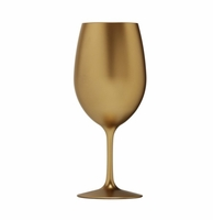 Metallic Gold Acrylic Red Wine Glass