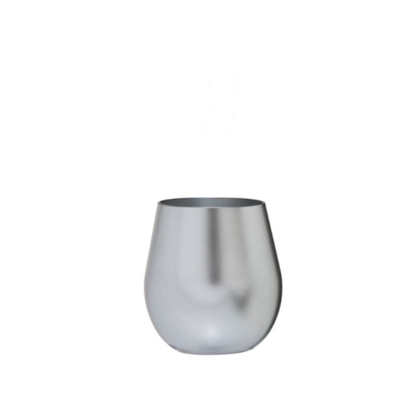 metallic silver stemless acrylic wine glass - Plastic Stemless Wine Glasses