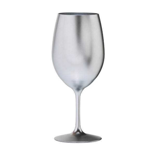 Metallic silver bpa free acrylic plastic wine glass for How to paint a wine glass with acrylics