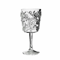 Paisley Clear Acrylic Wine Glass
