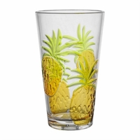 Pineapple BPA-Free Acrylic Highball Tumbler - Set/4