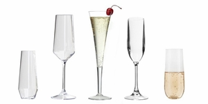 Acrylic Champagne Flutes & Glasses