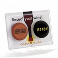 "Reusable Wine Bottle Cap Set - ""Wine Jail"" and ""Retox"""