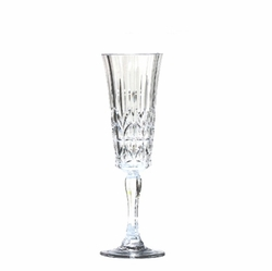Royal Clear Acrylic Champagne Flutes - Set/4