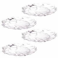 Shell Acrylic Wine 'N Dine Party Plate - Set of 4