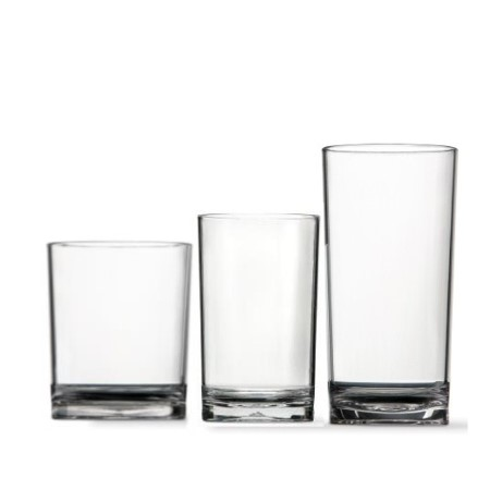 sonoma classic clear unbreakable highball glass set4 - Highball Glasses