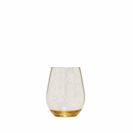 Unbreakable Gold Glitter Stemless Wine Glass