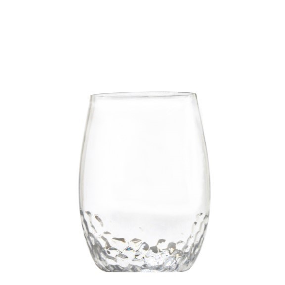 Plastic Stemless Wine Gles With Thumb Indent Best 2018