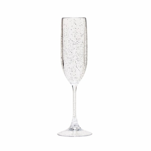 Sonoma Unbreakable Silver Sparkle Champagne Flute