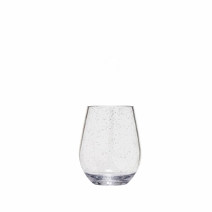 Sonoma Unbreakable Silver Sparkle Stemless Wine Glass